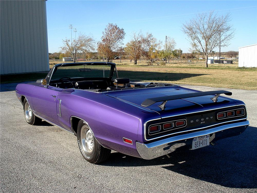 1970 DODGE CORONET 500 CONVERTIBLE - Rear 3/4 - 117144