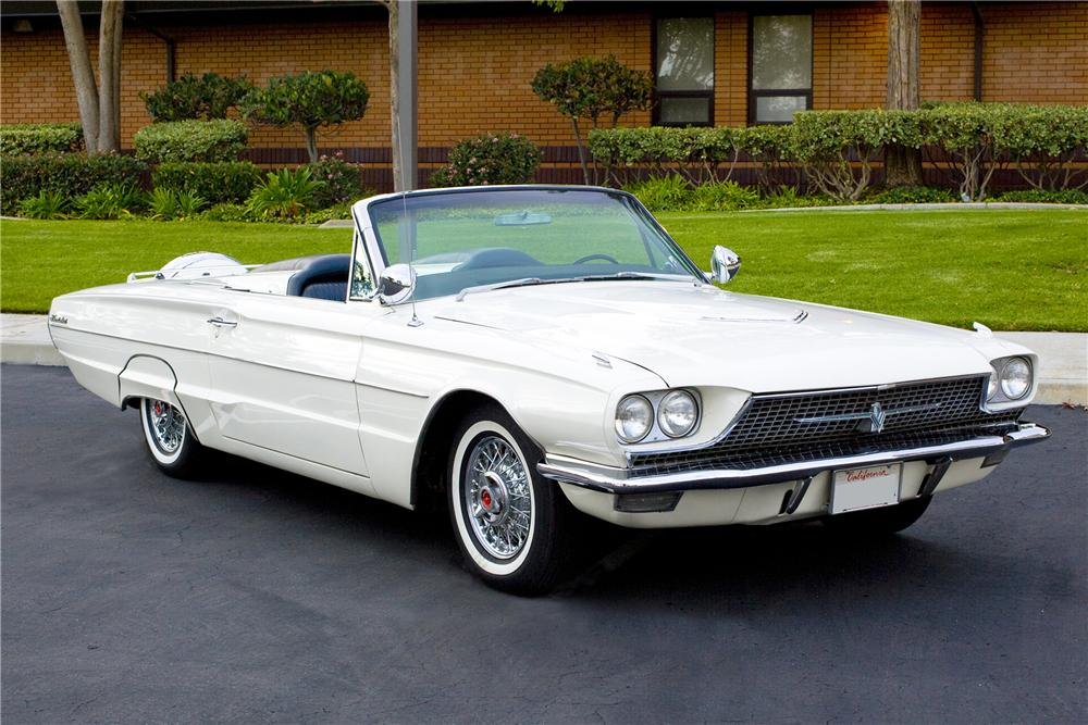 1966 FORD THUNDERBIRD CONVERTIBLE - Front 3/4 - 117148