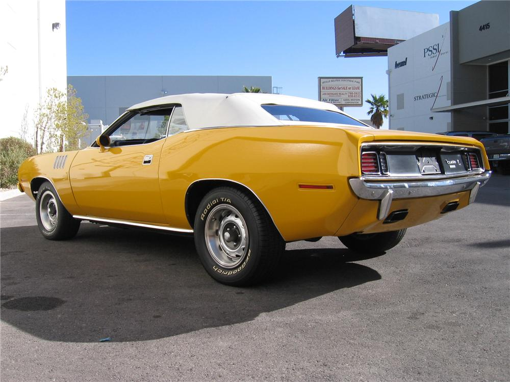 1970 PLYMOUTH CUDA CUSTOM 2 DOOR CONVERTIBLE - Rear 3/4 - 117151