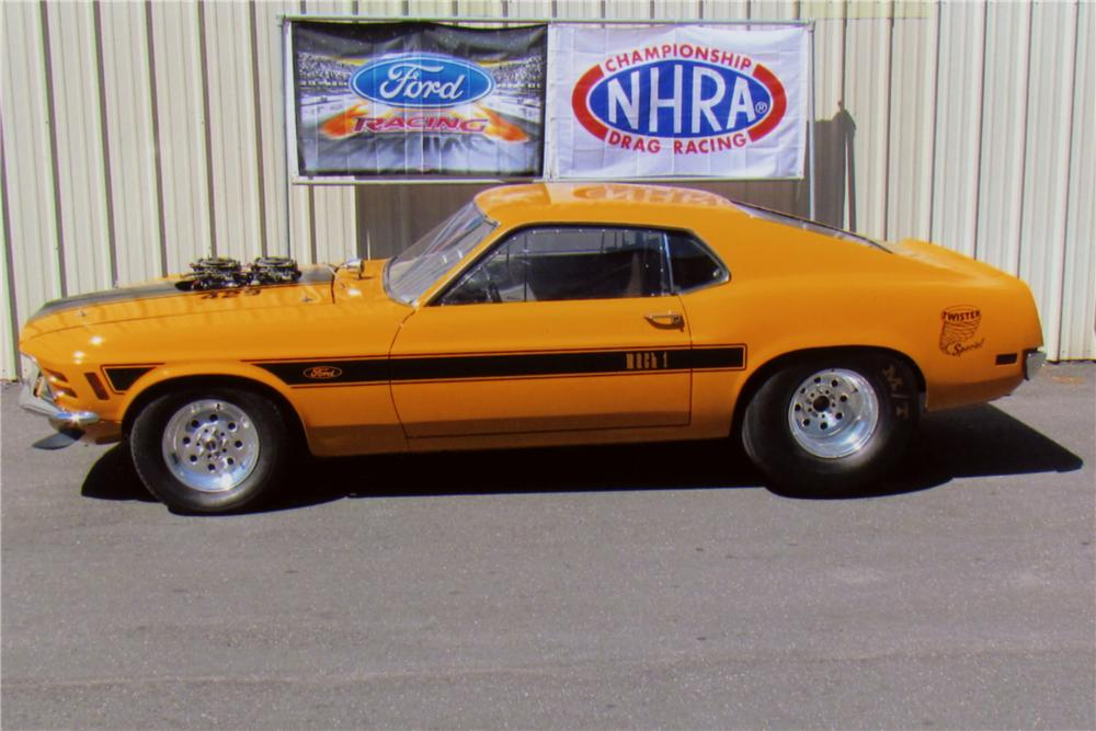 1970 FORD MUSTANG MACH 1 FASTBACK - Side Profile - 117153