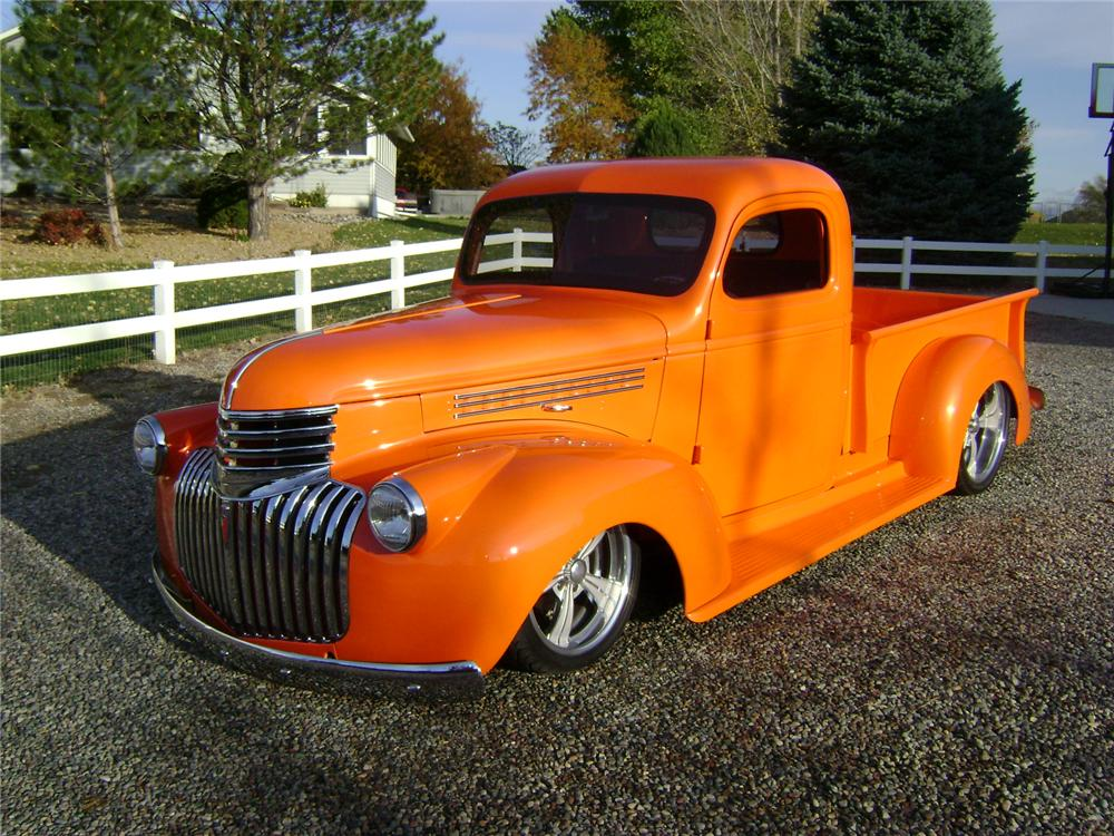 1946 CHEVROLET CUSTOM PICKUP - Front 3/4 - 117159