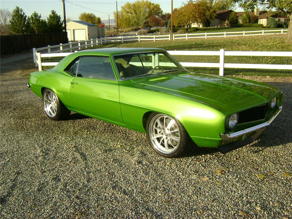 1969 CHEVROLET CAMARO CUSTOM 2 DOOR COUPE - Side Profile - 117160