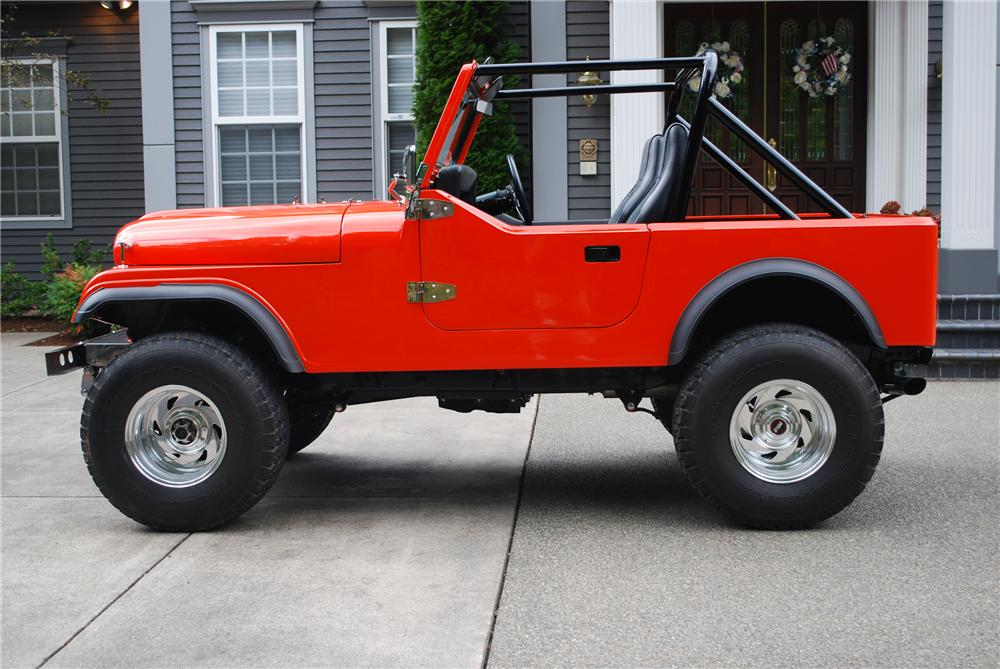 1981 JEEP CJ-7 CUSTOM SUV - Side Profile - 117161
