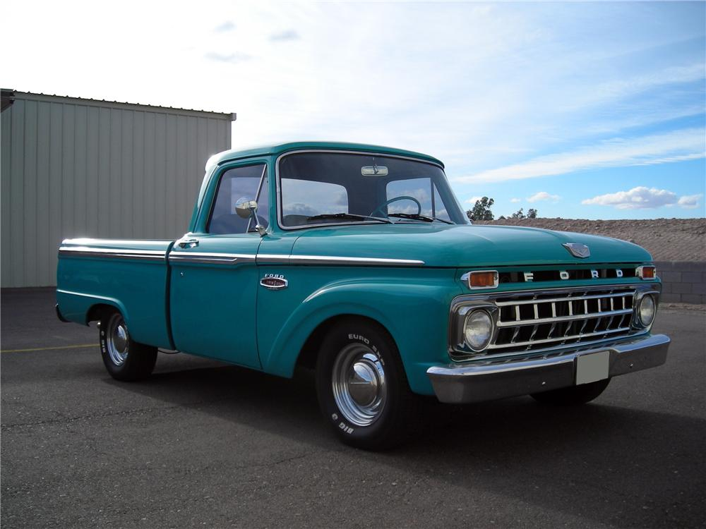 1965 FORD F-100 CUSTOM PICKUP - Front 3/4 - 117173