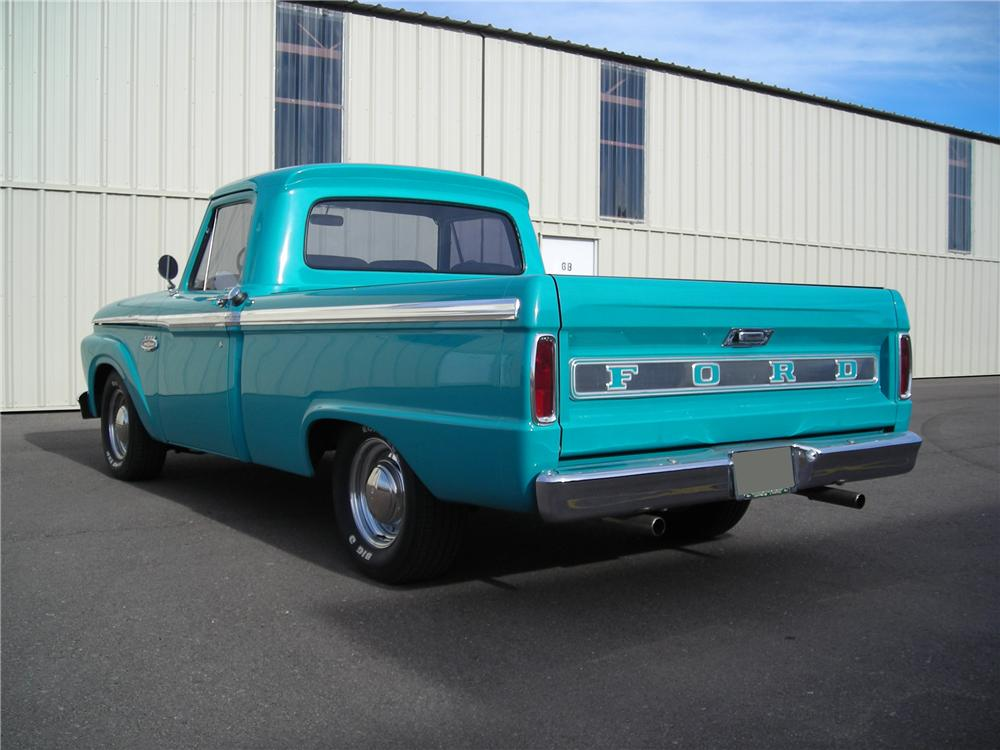 1965 FORD F-100 CUSTOM PICKUP - Rear 3/4 - 117173