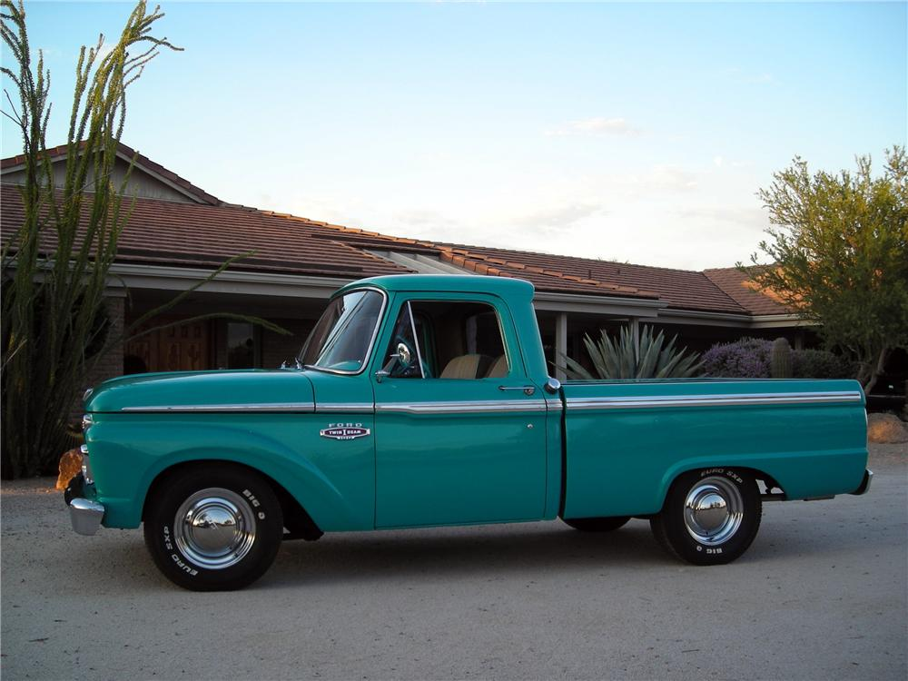 1965 FORD F-100 CUSTOM PICKUP - Side Profile - 117173