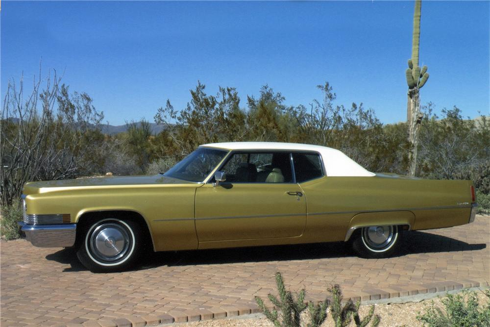 1970 CADILLAC COUPE DE VILLE 2 DOOR COUPE - Side Profile - 117176