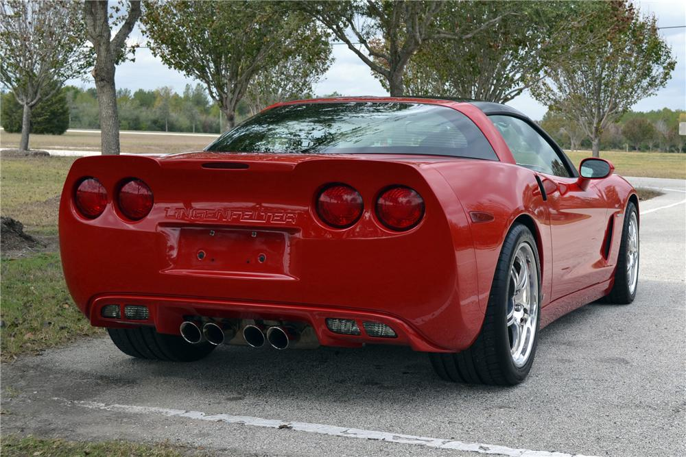 2006 CHEVROLET CORVETTE COUPE - Rear 3/4 - 117189