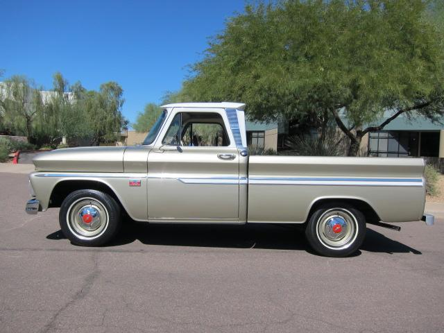 1966 CHEVROLET C-10 FLEETSIDE PICKUP - Side Profile - 117197