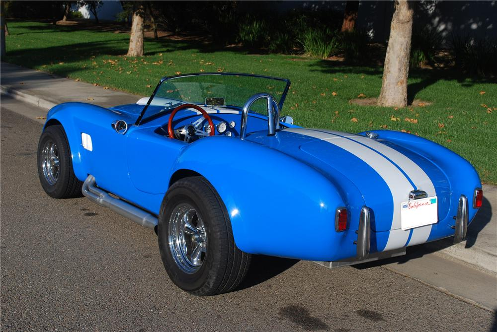1965 SHELBY COBRA RE-CREATION ROADSTER - Rear 3/4 - 117200