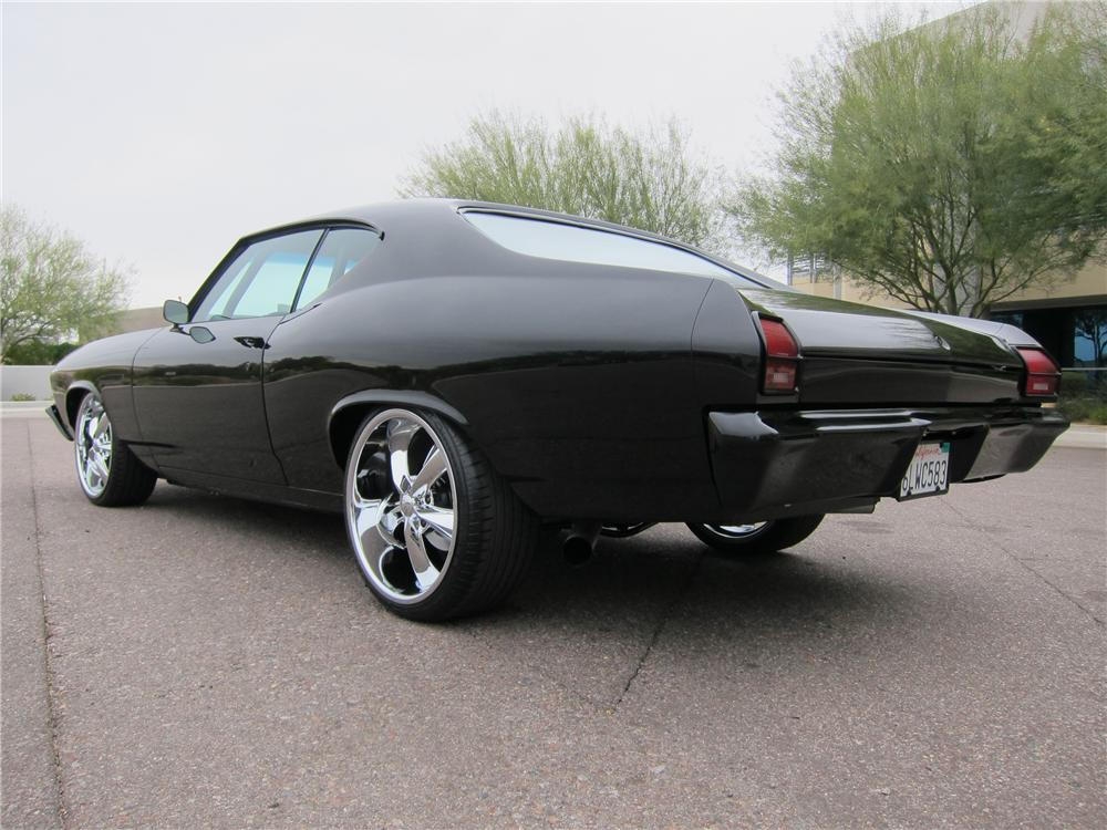 1969 CHEVROLET CHEVELLE CUSTOM 2 DOOR - Rear 3/4 - 117201