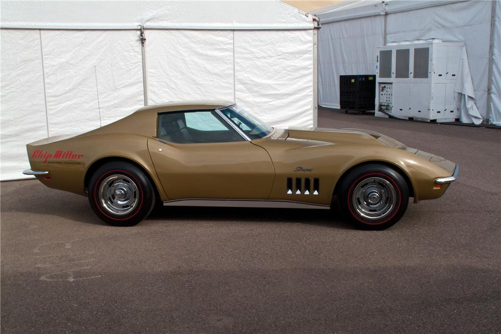 1969 CHEVROLET CORVETTE COUPE - Side Profile - 117204