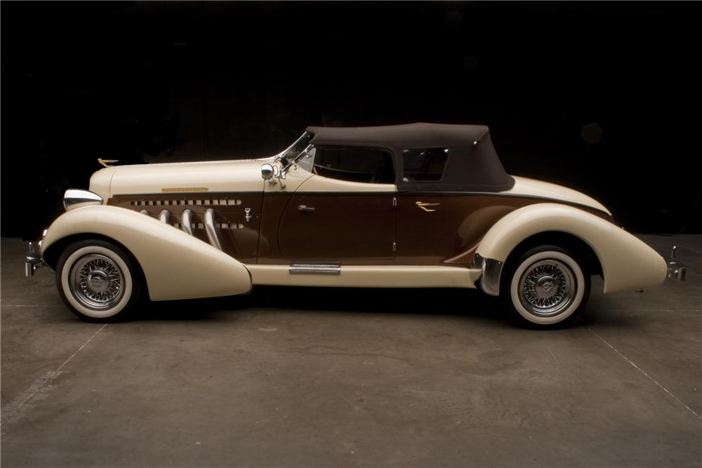 1935 AUBURN BOATTAIL SPEEDSTER RE-CREATION - Side Profile - 117220