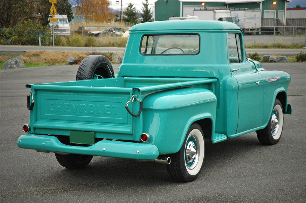 1957 CHEVROLET 3100 PICKUP - Rear 3/4 - 117222