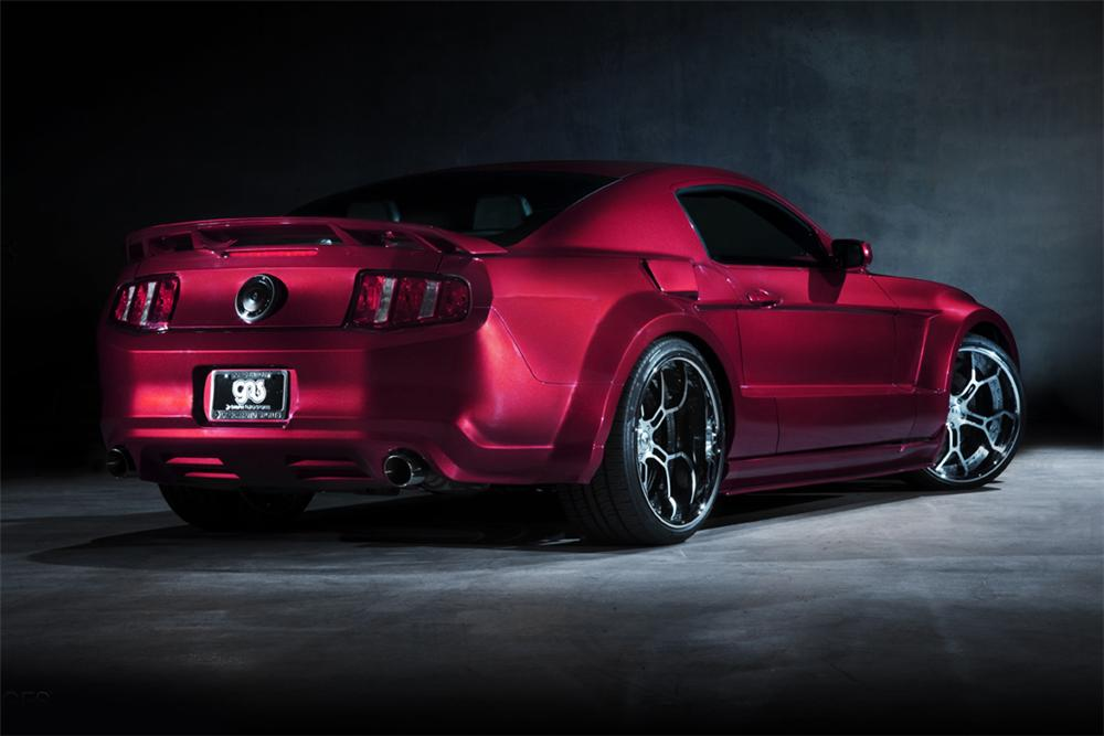 2012 FORD MUSTANG GT CUSTOM COUPE - Rear 3/4 - 117224