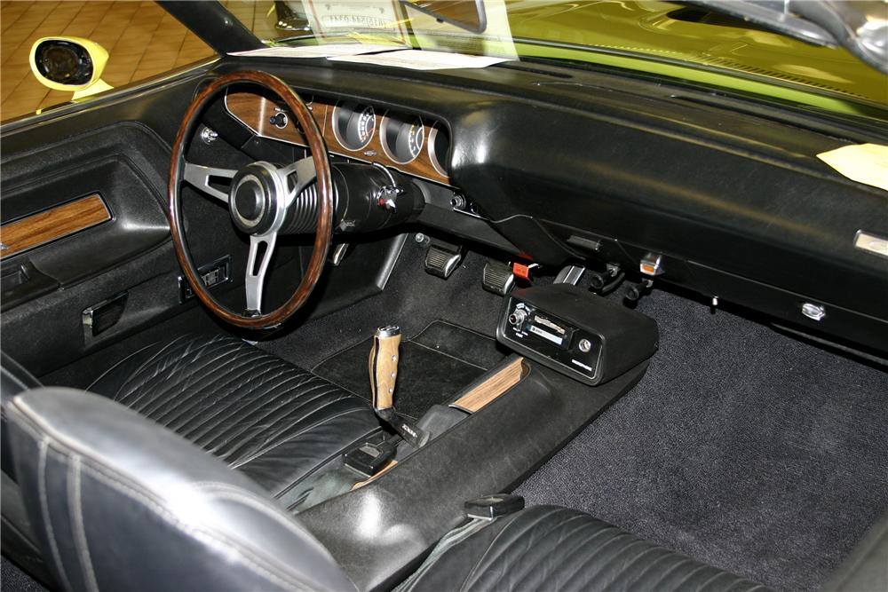 1971 DODGE CHALLENGER CONVERTIBLE - Interior - 117226