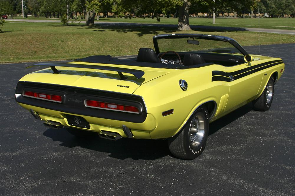1971 DODGE CHALLENGER CONVERTIBLE - Rear 3/4 - 117226