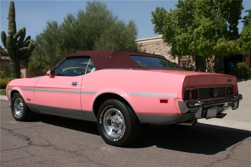 1973 FORD MUSTANG CONVERTIBLE - Rear 3/4 - 117227