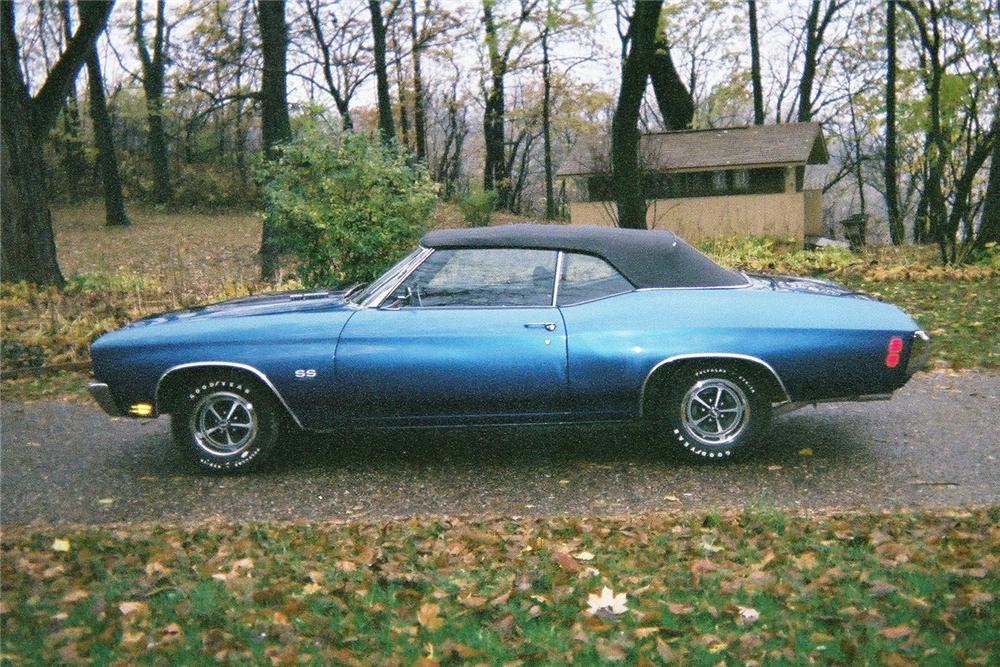 1970 CHEVROLET CHEVELLE SS CONVERTIBLE - Side Profile - 117228
