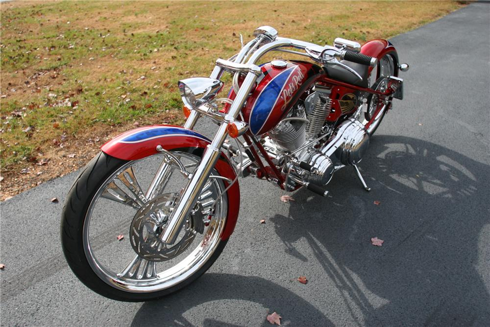 """2011 ARLEN NESS """"DIGGER"""" MOTORCYCLE - Front 3/4 - 117229"""