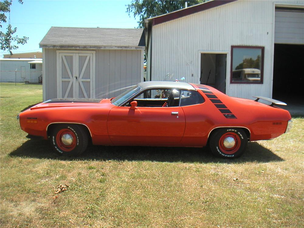 1971 PLYMOUTH ROAD RUNNER CUSTOM 2 DOOR COUPE - Side Profile - 117255