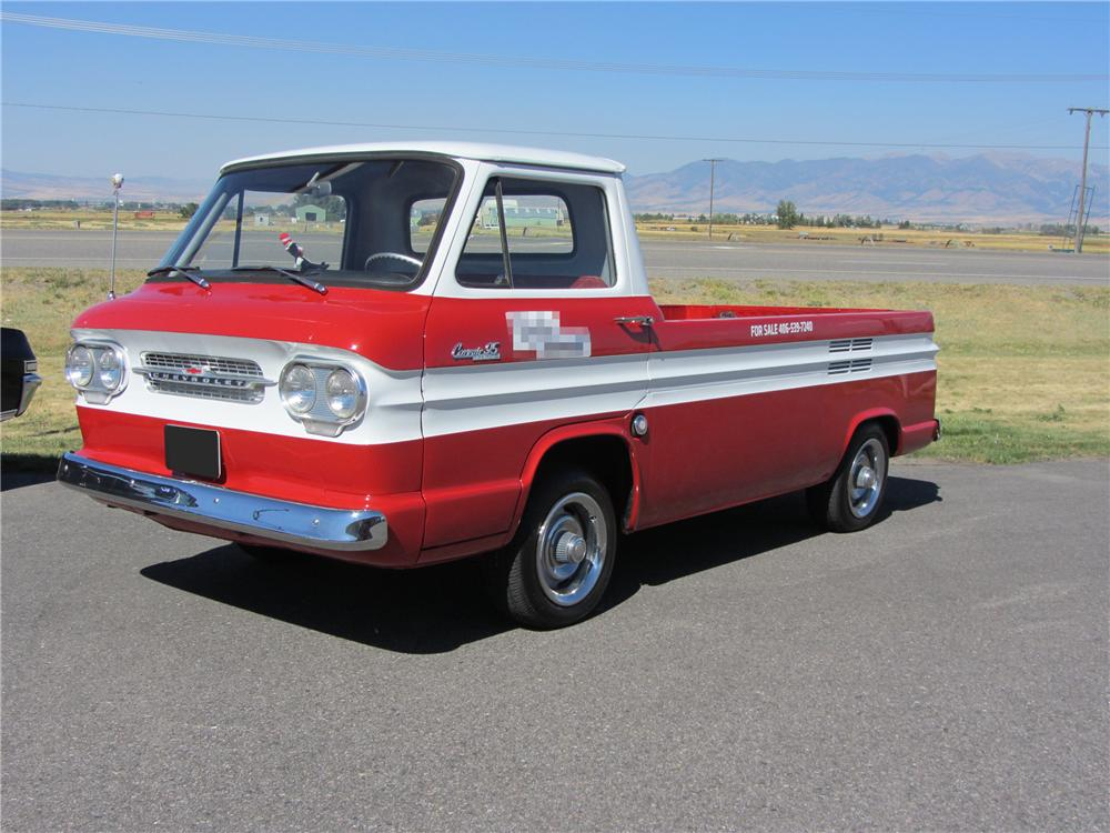 1961 CHEVROLET CORVAIR PICKUP - Front 3/4 - 117264