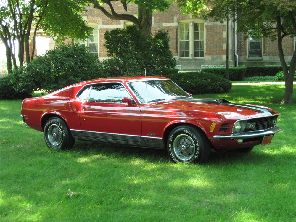 1970 FORD MUSTANG MACH 1 FASTBACK - Front 3/4 - 117290
