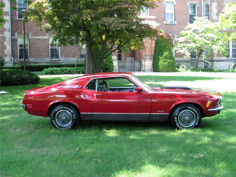 1970 FORD MUSTANG MACH 1 FASTBACK - Side Profile - 117290