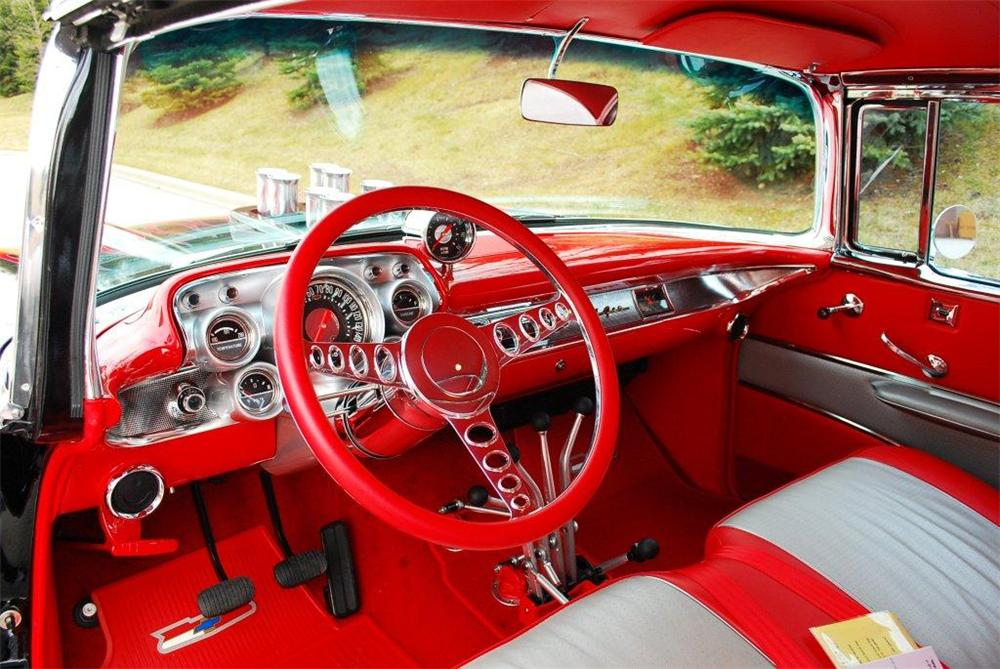 1957 CHEVROLET BEL AIR CUSTOM 2 DOOR COUPE - Interior - 117300