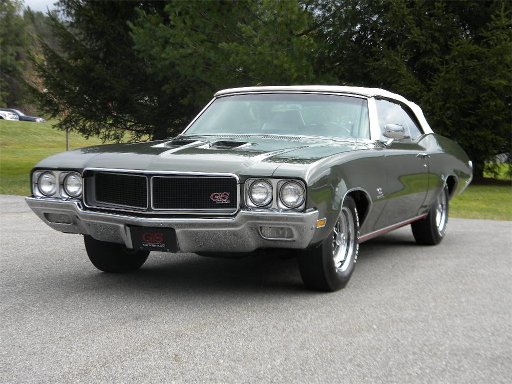 1970 BUICK GS CONVERTIBLE - Front 3/4 - 117304