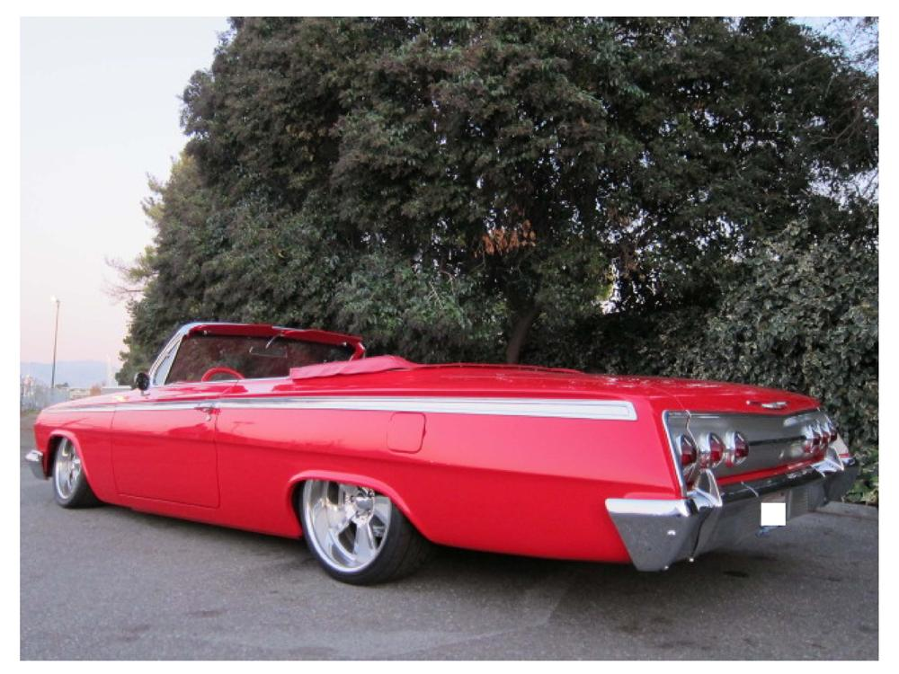 1962 CHEVROLET IMPALA CUSTOM CONVERTIBLE - Rear 3/4 - 117307