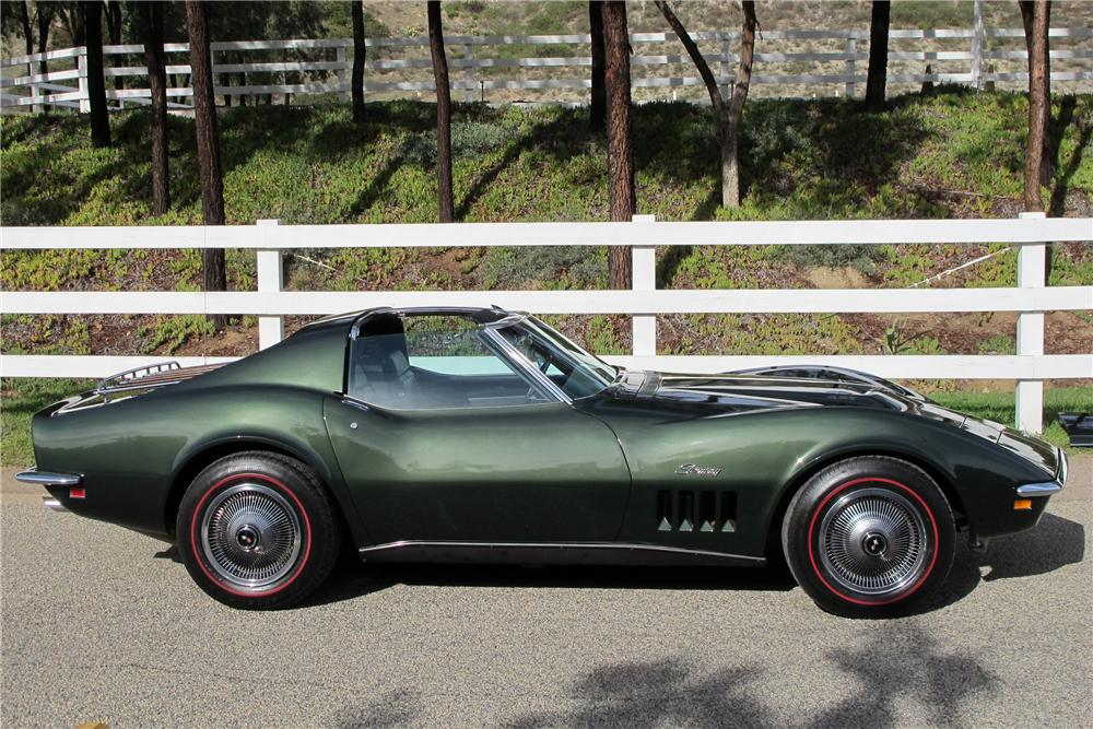 1969 CHEVROLET CORVETTE 2 DOOR COUPE - Side Profile - 117309
