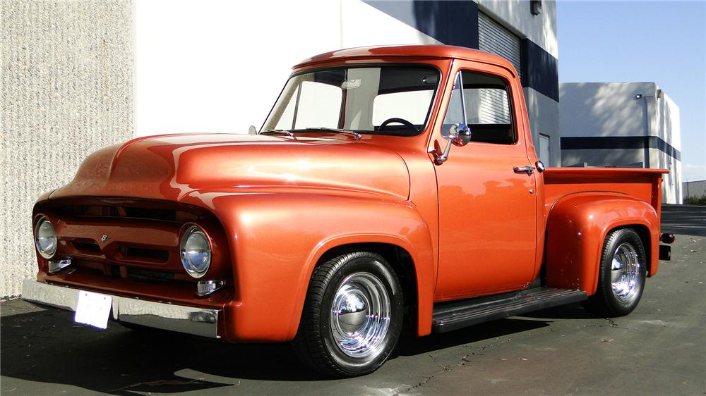 1956 FORD F-100 CUSTOM PICKUP - Front 3/4 - 117318