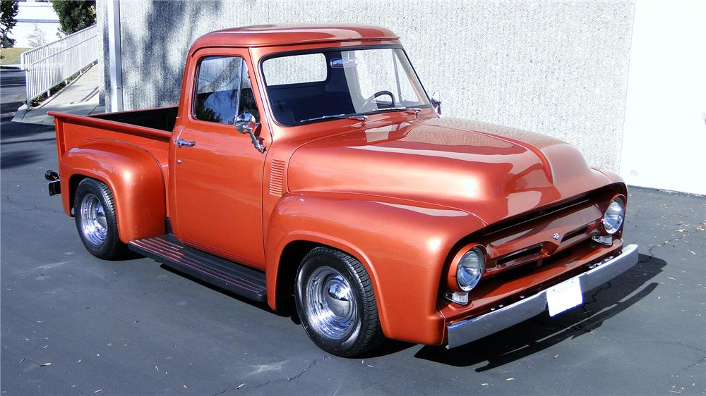 1956 FORD F-100 CUSTOM PICKUP - Side Profile - 117318