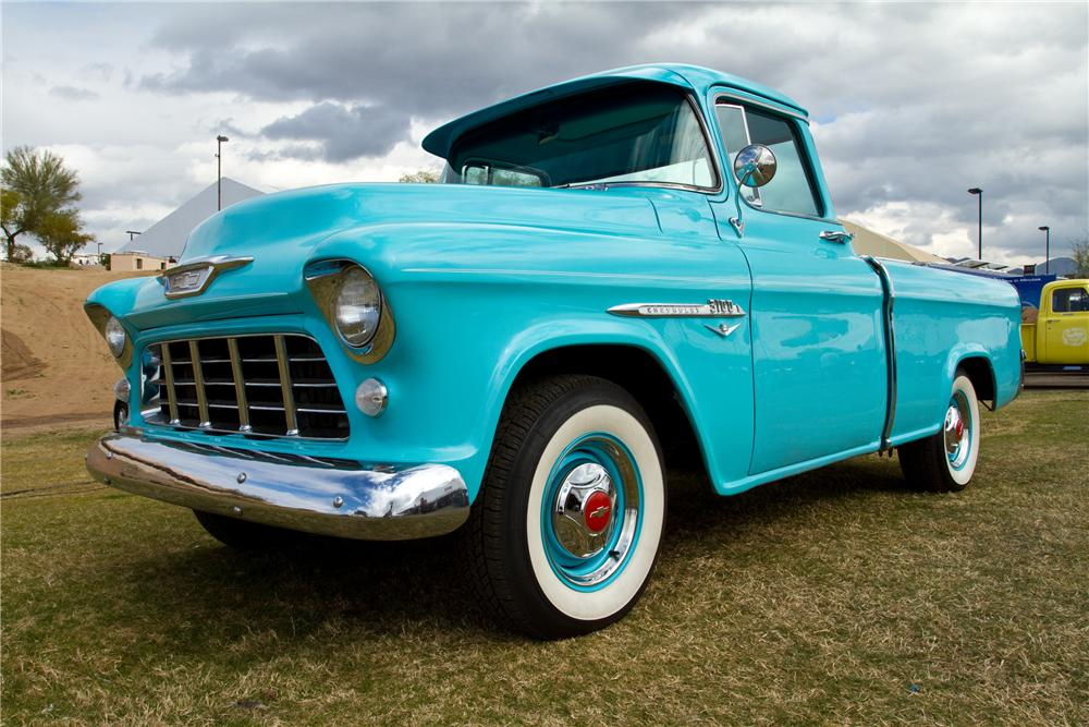 1955 CHEVROLET CAMEO CUSTOM PICKUP - Front 3/4 - 117330