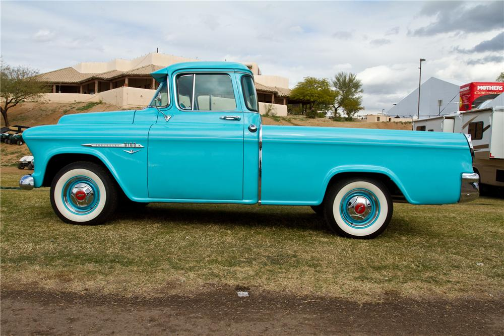 1955 CHEVROLET CAMEO CUSTOM PICKUP - Side Profile - 117330