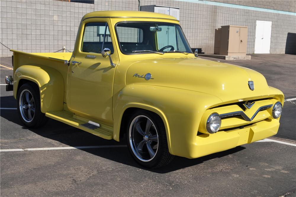 1955 FORD F-100 PICKUP - Front 3/4 - 117335