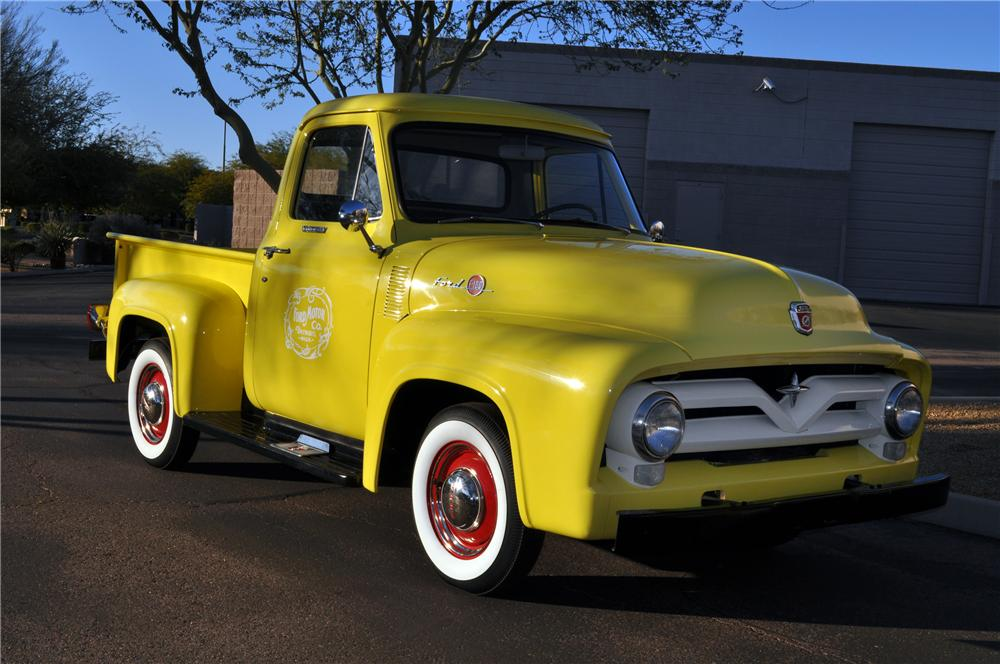 1955 FORD F-100 PICKUP - Front 3/4 - 117343