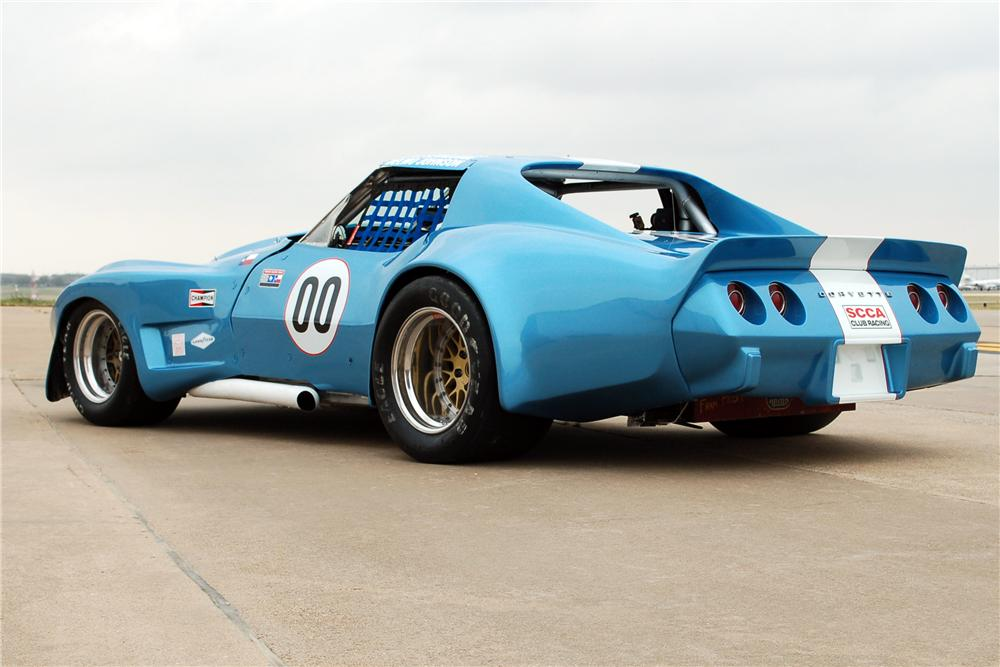 1970 CHEVROLET CORVETTE RACECAR - Rear 3/4 - 117361