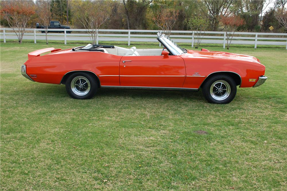 1971 BUICK GS455 CONVERTIBLE - Side Profile - 117368