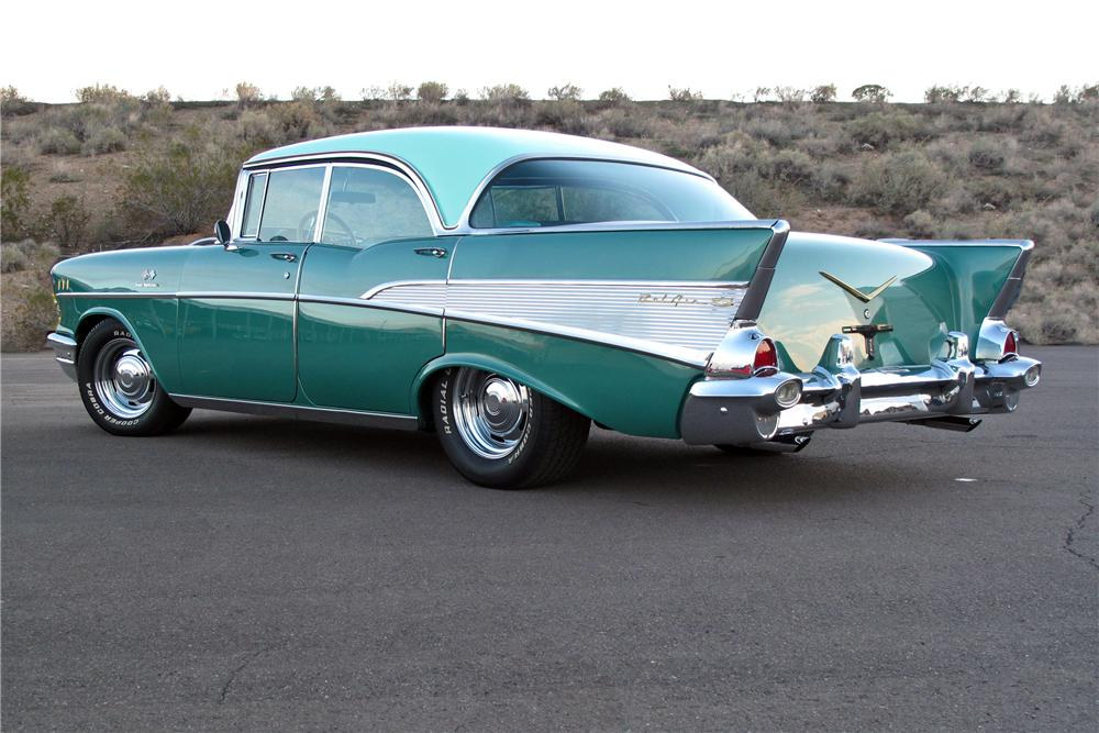 1957 chevrolet bel air 4 door pillarless sedan 117372