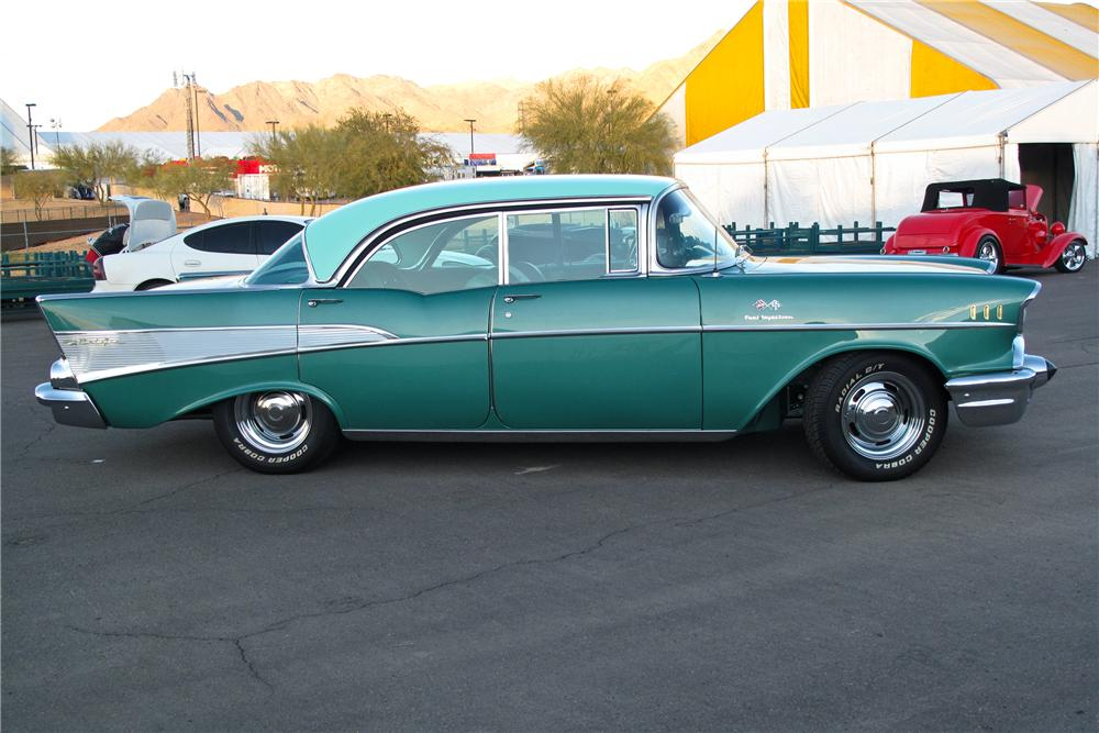 1957 chevrolet bel air 4 door pillarless sedan 117372 for 1957 chevrolet 4 door