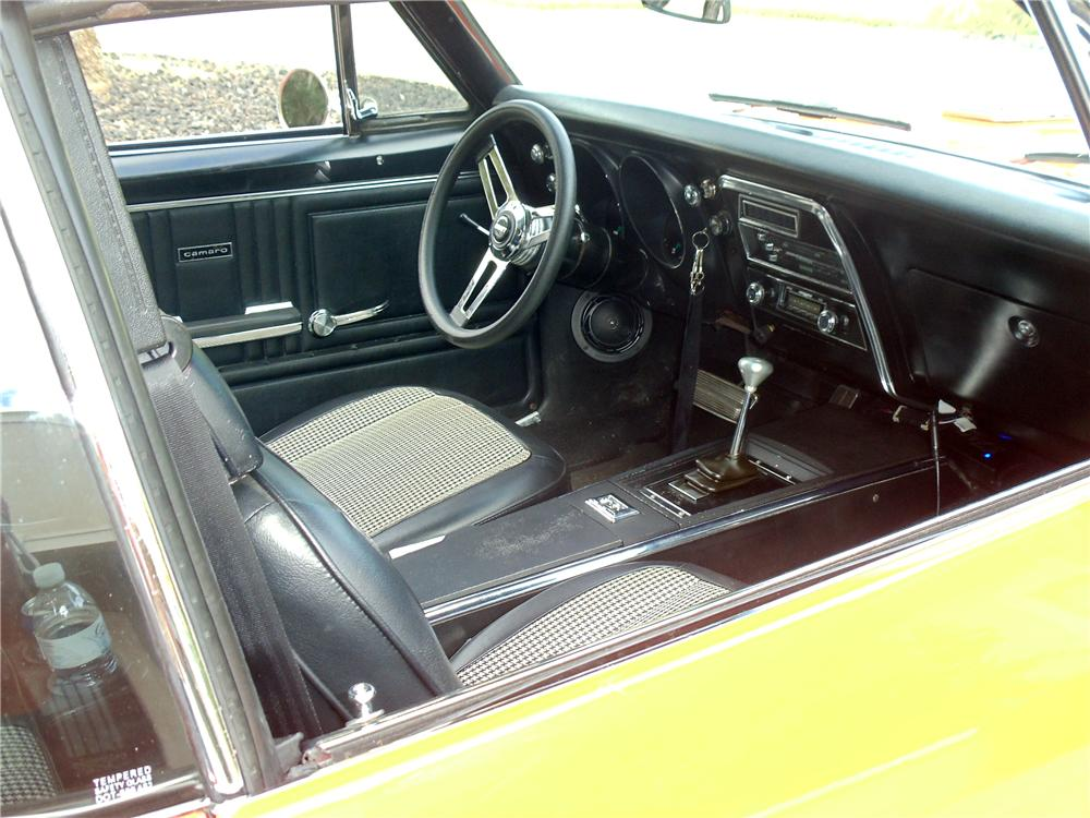 1967 CHEVROLET CAMARO CUSTOM 2 DOOR COUPE - Interior - 117375