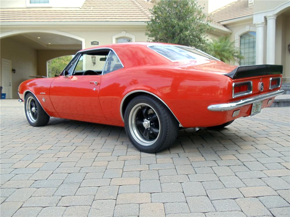 1967 CHEVROLET CAMARO CUSTOM 2 DOOR COUPE - Rear 3/4 - 117375