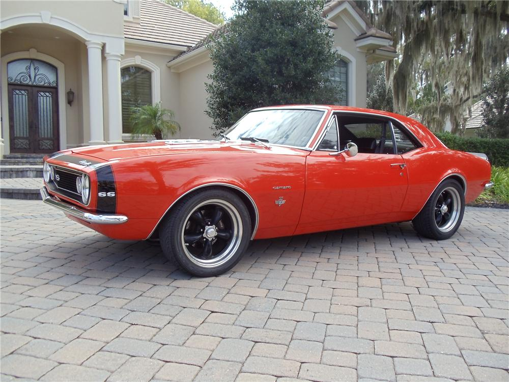1967 CHEVROLET CAMARO CUSTOM 2 DOOR COUPE - Side Profile - 117375