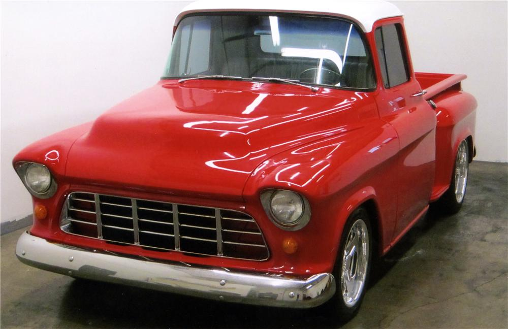 1956 CHEVROLET 3100 CUSTOM PICKUP - Front 3/4 - 117382