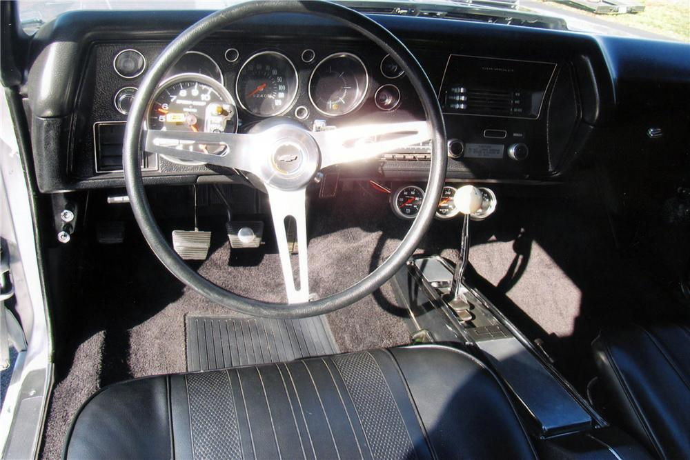 1970 CHEVROLET CHEVELLE SS 396 2 DOOR COUPE - Interior - 117389