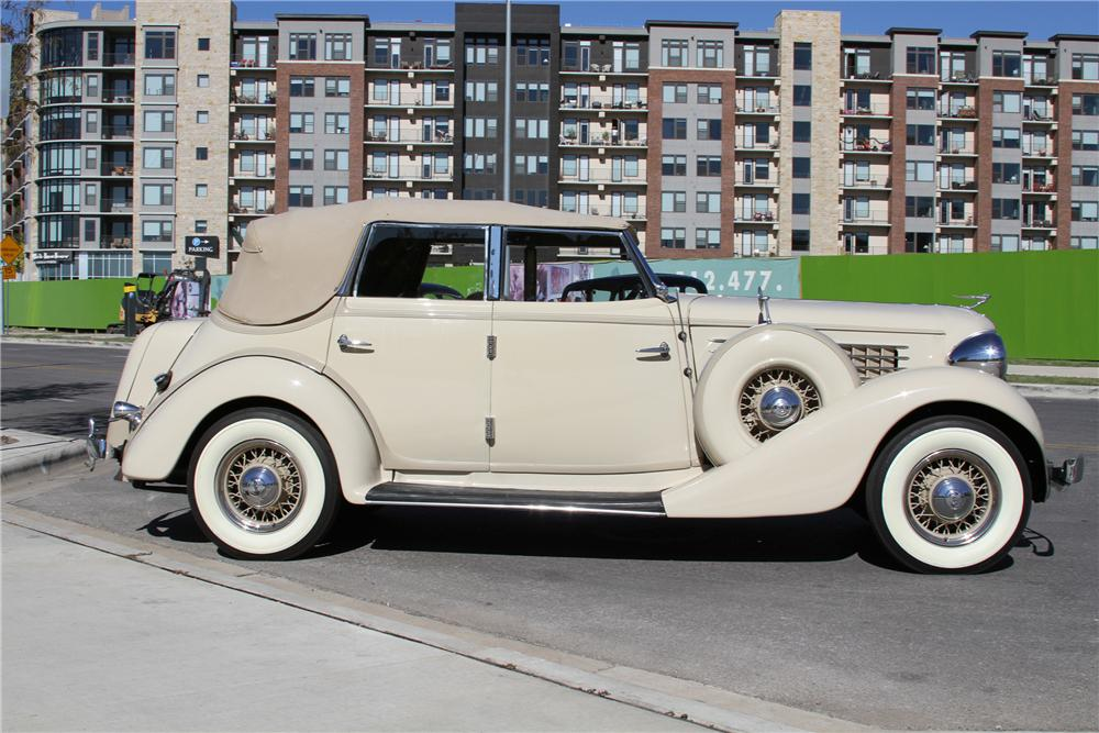 1935 AUBURN 653 CONVERTIBLE SEDAN - Side Profile - 117393