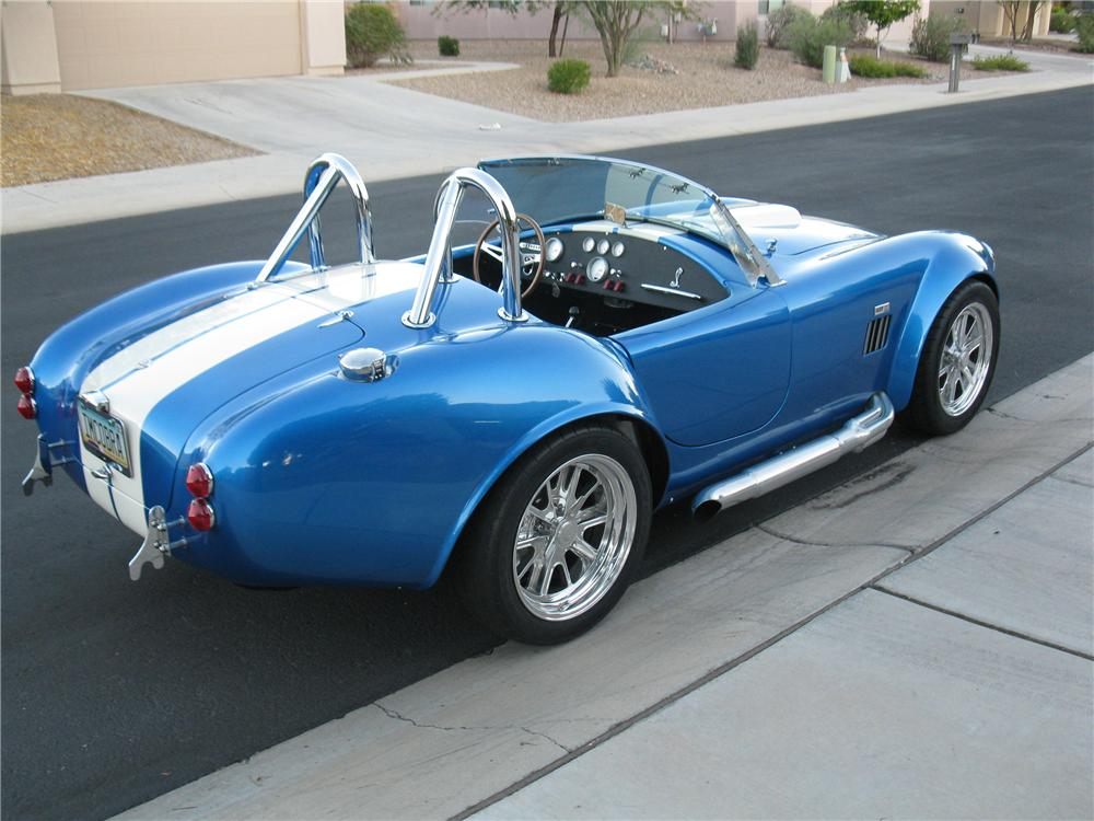 1965 FACTORY FIVE COBRA RE-CREATION ROADSTER - Rear 3/4 - 117396