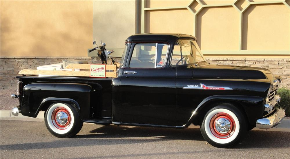 1958 CHEVROLET APACHE CUSTOM PICKUP - Side Profile - 117431